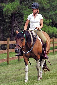 StarBrite Stables: Hillary riding Baby Girl